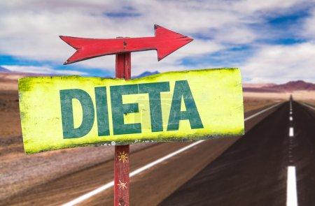 Dieta text sign