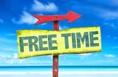 Free time text sign