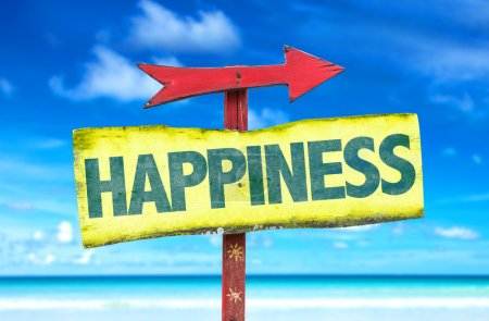 happiness text sign