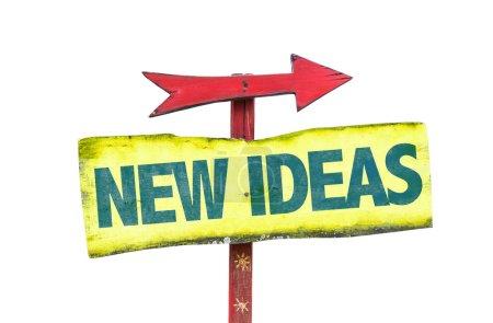 Photo pour Idées nouvelles signe texte isolé sur fond blanc - image libre de droit