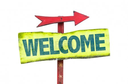 welcome text sign