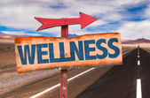 Wellness wooden sign