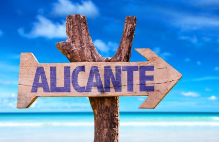 Alicante wooden sign