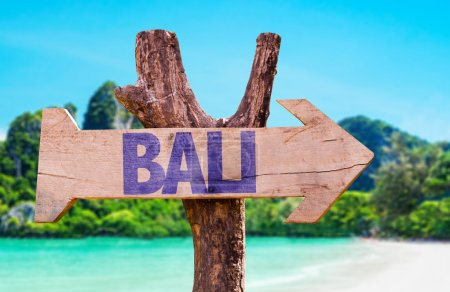 Bali wooden sign