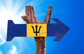 Barbados Flag wooden sign