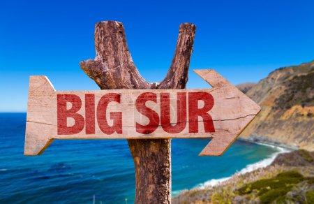 Big Sur wooden sign