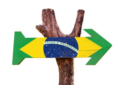 Brazil Flag wooden sign