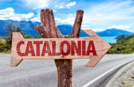 Catalonia wooden sign