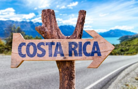 Costa Rica wooden sign