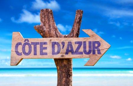 Cote D'Azur wooden sign