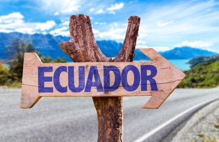 Ecuador wooden sign