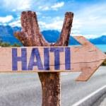 Постер, плакат: Haiti wooden sign