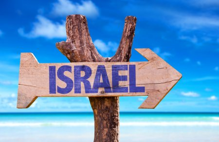 Israel wooden sign