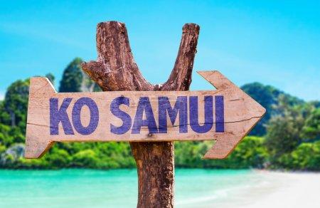 Ko Samui wooden sign
