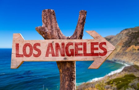 Los Angeles wooden sign