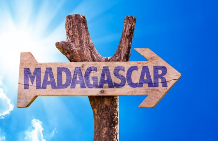 Madagascar wooden sign