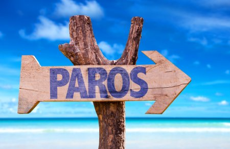 Paros wooden sign