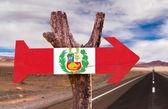 Peru Flag wooden sign