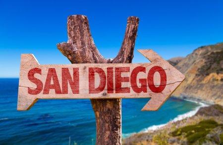 San Diego wooden sign