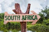 """Постер, картина, фотообои """"Южная Африка деревянный знак"""""""