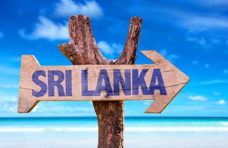 Sri Lanka wooden sign