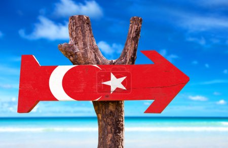 Turkey Flag wooden sign