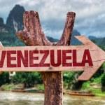Постер, плакат: Venezuela wooden sign