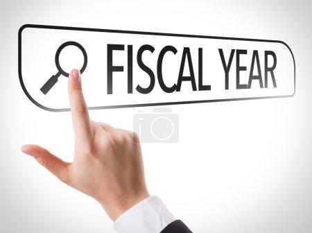 Fiscal Year written in search bar