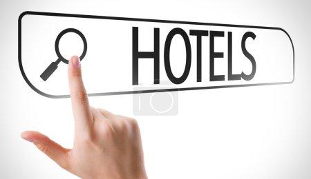 Hotels written in search bar