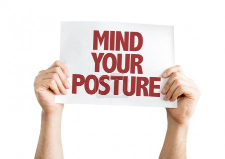 Mind Your Posture card isolated on white backgroun...