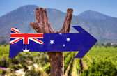 Australia Flag wooden sign