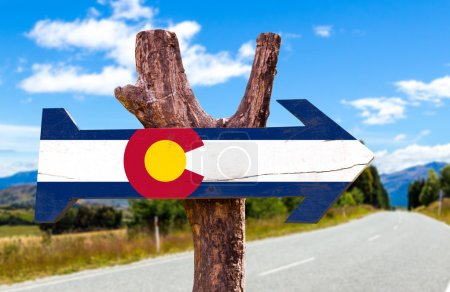 Colorado Flag wooden sign