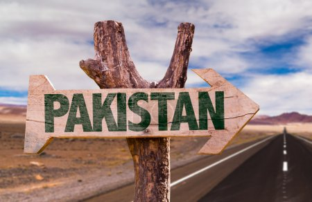 Pakistan wooden sign