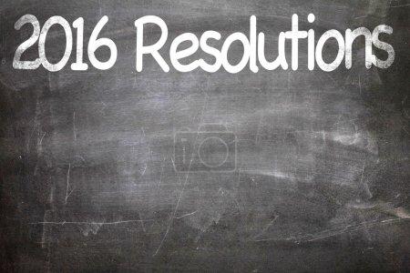 2016 Resolutions written on chalkboard
