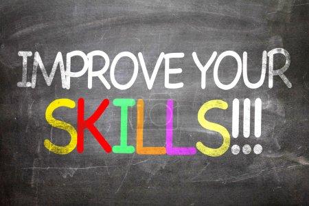 Photo pour Améliorez vos compétences écrites sur un tableau - image libre de droit