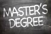 Master's Degree on a chalkboard