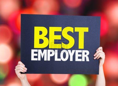 Best Employer placard