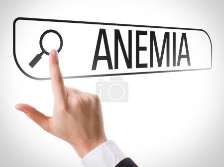 Anemia written in search bar