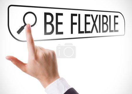 Be Flexible written in search bar