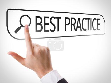 Best Practice written in search bar