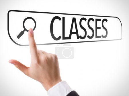 Classes written in search bar