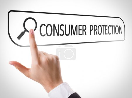Consumer Protection written in search bar