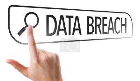 Data Breach written in search bar