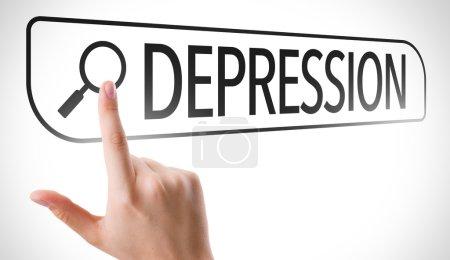 Depression written in search bar