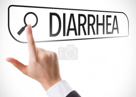 Diarrhea written in search bar