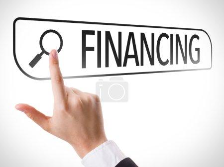 Financing written in search bar