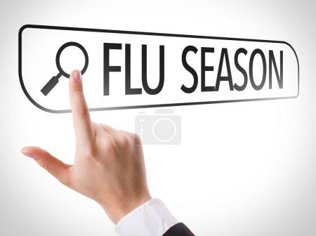 Flu Season written in search bar
