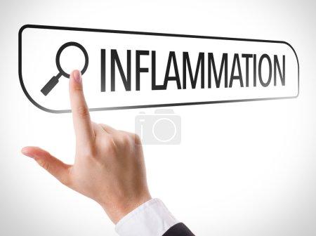 Inflammation written in search bar