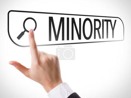 Minority written in search bar