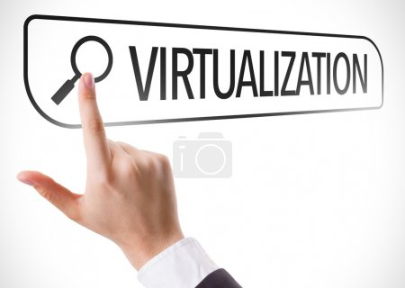 Virtualization written in search bar
